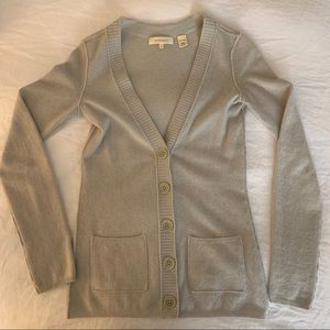 100% Cashmere Sweater - Light Grey